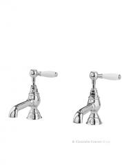 dubbele eengats laag krommende nostalgische fonteinkraan met klassieke hendel